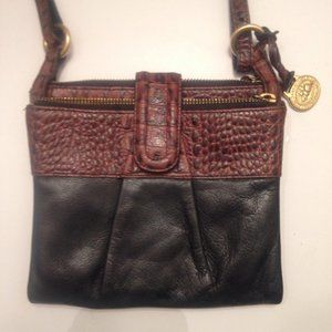 👛 BRAHMIN 👛black brown leather crossbody